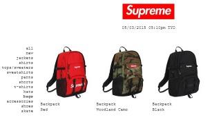5月3日 Supreme BackPack再販!2015ss