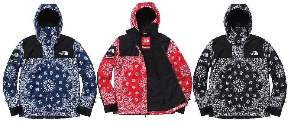 「14FW Supreme x THE NORTH FACE Bandana Mountain Parka」の画像検索結果