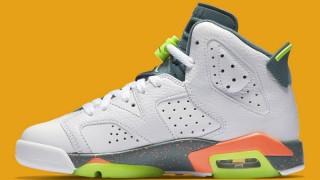 """直リンク掲載 4月30日発売 Nike Air Jordan 6 Retro GS """"Bright Mango"""""""