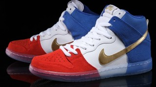 直リンク掲載 4月29日発売 Nike Dunk High Premium SB Rocks the Tricolor
