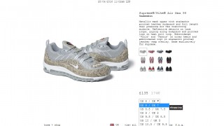 4月29日発売 Supreme × Nike Air Max 98 他発売商品一覧 2016ss