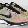 """直リンク掲載 5月14日発売 Nike Flyknit Racer """"Rainbow""""オンライン限定"""