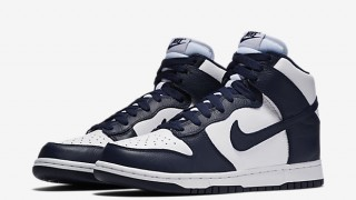 "直リンク掲載 6月10日発売 Nike Dunk High Retro QS""White/Midnight Navy"""
