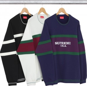 Center Stripe Crewneck