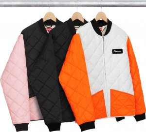 Color Blocked Quilted Jacket