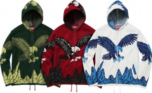 Eagle Hooded Zip Up Sweater