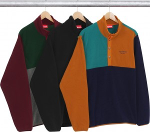 Polartec Fleece Color Blocked Half Snap