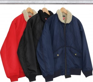 Quilted Nylon Tanker Jacket