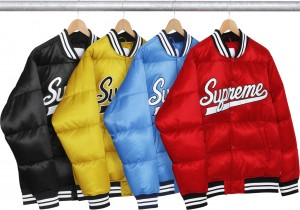 Script Varsity Puffy Jacket