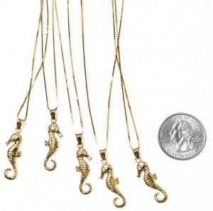 Seahorse Gold Pendant