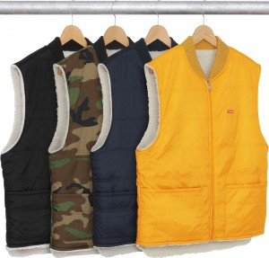 Sherpa Fleece Reversible Work Vest