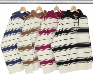 Striped Hooded Crewneck
