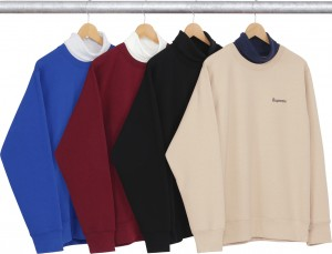 Turtleneck Collar Crewneck