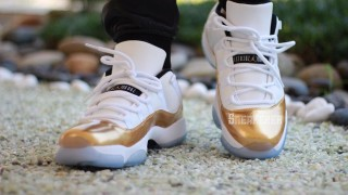 "直リンク掲載 8月27日発売予定 Nike Air Jordan 11 Retro Low ""White/Metallic Gold"""