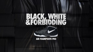 12月14日発売 Nike Air Foamposite Pro BLACK, WHITE & FORBIDDING