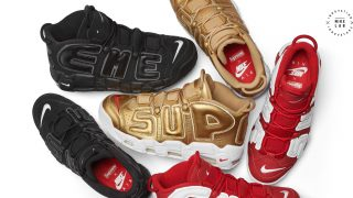 5月1日発売予定 NikeLAB Supreme × Nike Air More Uptempo