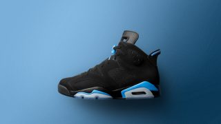 12月2日発売 Nike Air Jordan 6 Retro BLACK/UNIVERSITY BLUE 384664-006