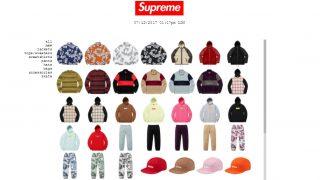 12月9日発売予定 Supreme box logo hooded sweatshirt他展開予定商品一覧 2017fw