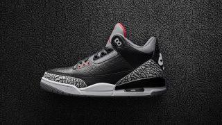 2月17日発売 Nike Air Jordan 3 Retro OG BLACK CEMENT 854262-001