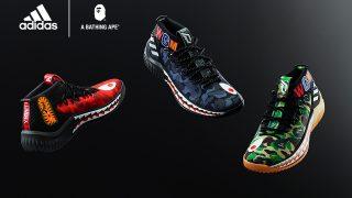 2月17日発売 adidas by BAPE® Damian Lillard 4 AP9974 AP9975 AP9976