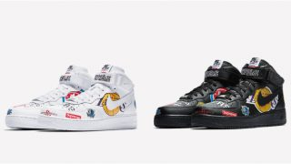 【SNKRS】3月12日発売 Supreme × Nike Air Force 1 Mid 07 NBA AQ8017-001/100