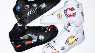 【速報】国内3月10日発売予定 Supreme × Nike Air Force 1 Mid 07 NBA 他 AQ8017-001/100