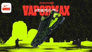 4月26日発売 Air Vapormax Moc 2 Acronym Black Volt AQ0996-007