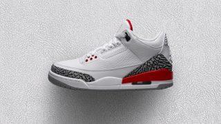 6月2日発売 Nike Air Jordan 3 Retro WHITE/RED 136064-116