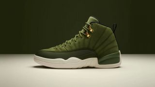 8月11日発売 Nike Air Jordan 12 Retro OLIVE CANVAS 130690-301