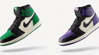 9月22日発売 Nike Air Jordan 1 High Retro OG PINE GREEN&COURT PURPLE