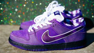 """12月15日/17日発売 CONCEPTS × Nike SB Dunk Low """"Purple Lobster""""BV1310-555"""