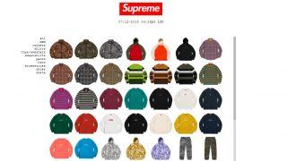 12月8日発売 Supreme展開商品一覧 Box Logo Crewneck Sweatshirt等
